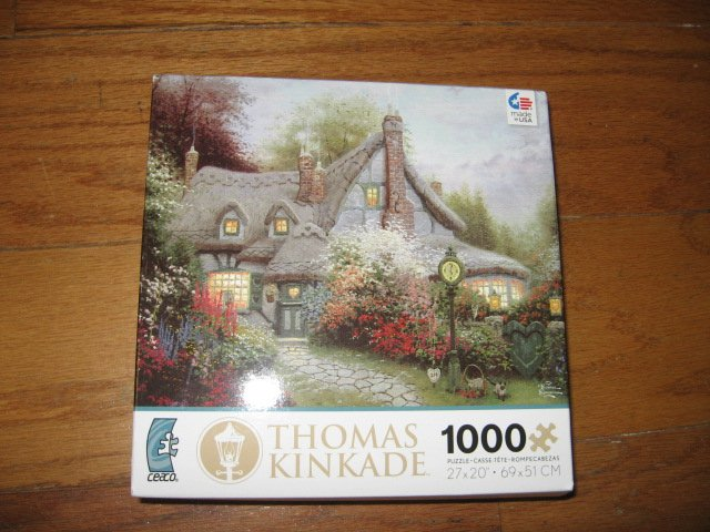 Thomas Kinkade Sweetheart Cottage  1000 piece Puzzle  year 2012 new
