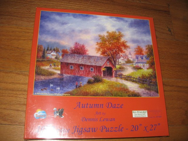 Autumn Daze by Dennis Lewan 1000 piece puzzle 20 X 27