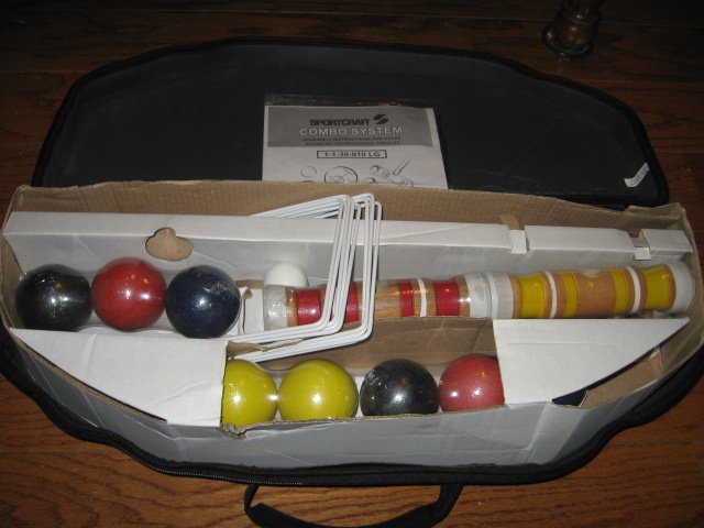 Croquet set 4 player zipper carry case new