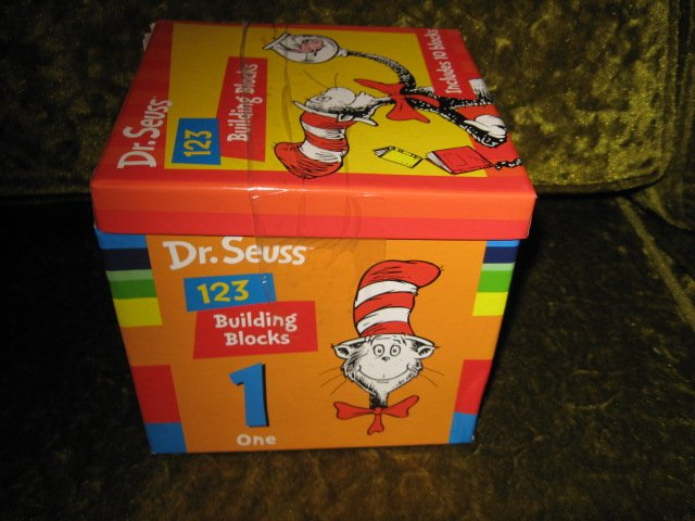 Image 1 of Dr Seuss alphabet counting building blocks   set of ten