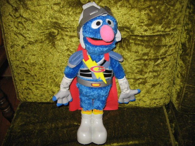 Grover  Flying Super hero Singing and Talking Sesame Street 15 Tall Plush Doll