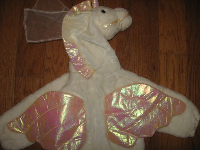 Image 3 of Chrisha playful plush Unicorn white horse costume ages 4-6 teacher school play