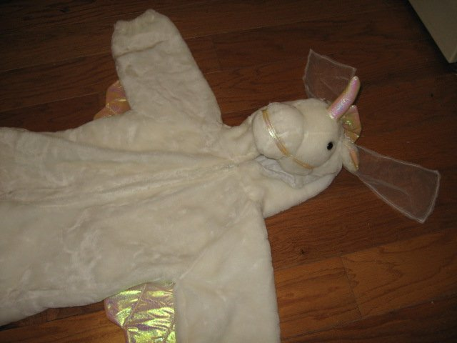 Image 4 of Chrisha playful plush Unicorn white horse costume ages 4-6 teacher school play
