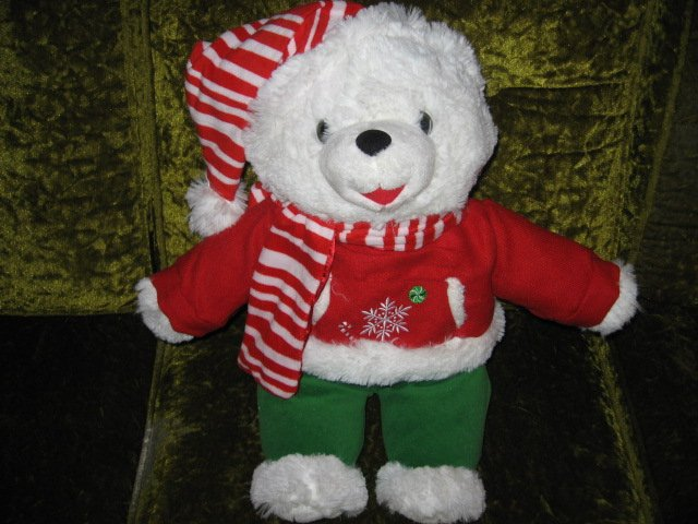 Image 1 of Collectible Christmas Snowflake Teddy Bear plush hat scarf jacket  new 2012 18