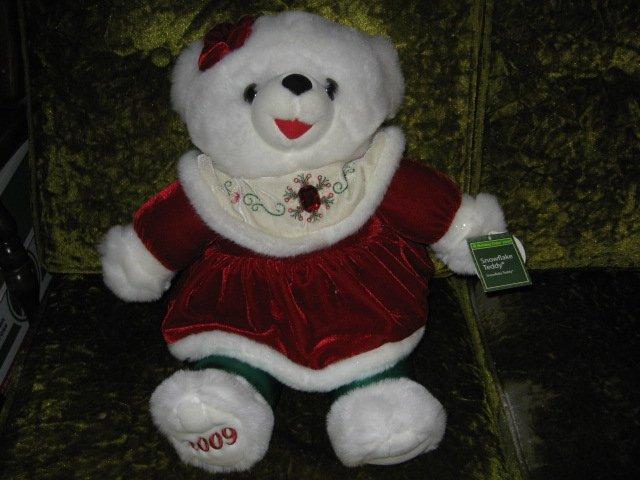 Image 0 of Snowflake girl Teddy DanDee Collectible Bear plush NWT 2009 19
