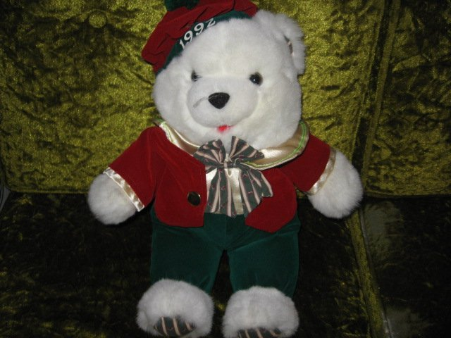 Collectible Xmas Irish Teddy Bear plush jacket tam-o-shanter  new 1992 17