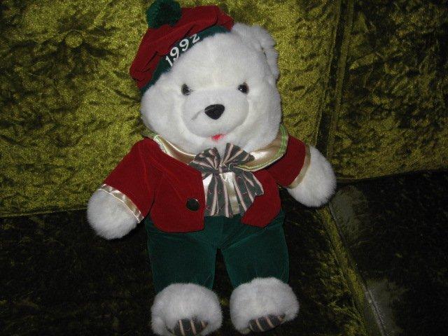 Image 1 of Collectible Xmas Irish Teddy Bear plush jacket tam-o-shanter  new 1992 17