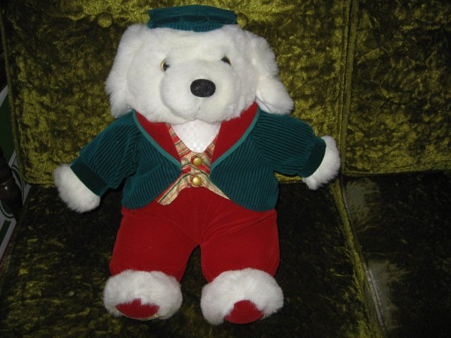 Collectible Xmas Irish Teddy Bear plush jacket tam-o-shanter  new 1995 16