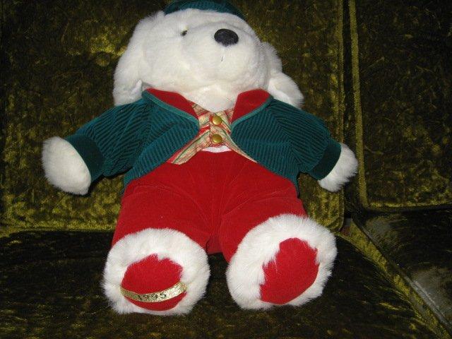 Image 1 of Collectible Xmas Irish Teddy Bear plush jacket tam-o-shanter  new 1995 16