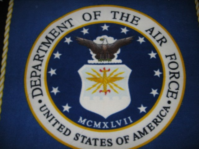 United States Airforce flag  Military Fleece Blanket