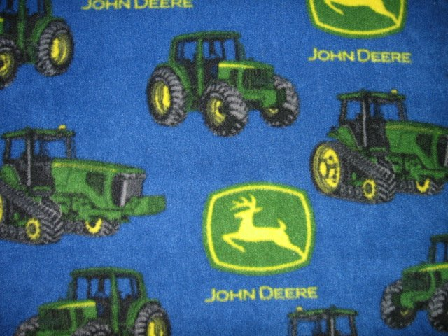 John Deere Tractor child  blue Fleece Blanket 30 X 46