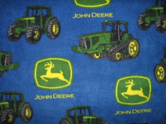Image 1 of John Deere Tractor child  blue Fleece Blanket 30