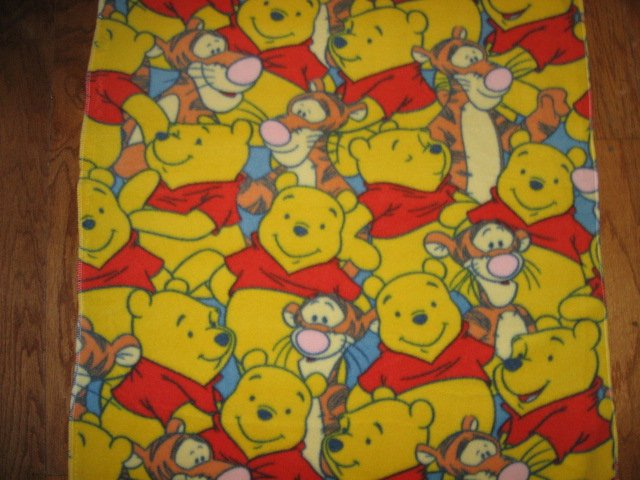 Image 0 of Winnie the Pooh Tigger baby blanket Handmade with licensed fleece