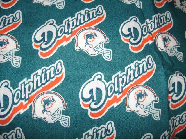 Image 1 of Miami Dolphins NFL football 1997 one and one half yard 100 per cent cotton