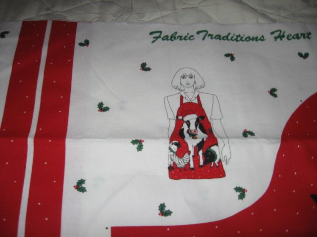 Image 3 of cow sheep chicken pig Christmas apron to sew cotton