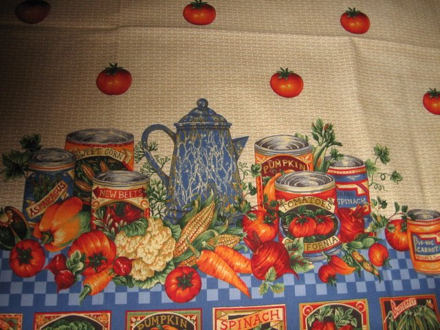 Vegetable tomato farm fabric apron panel adult Cotton to sew