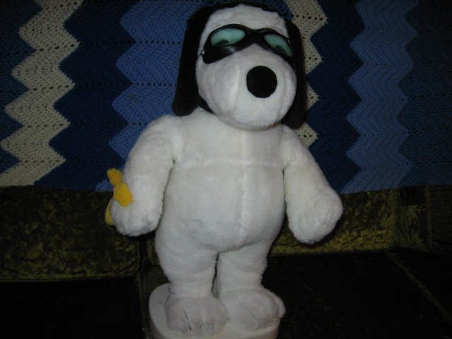 Image 1 of  Snoopy and Woodstock aviator motion plush doll set
