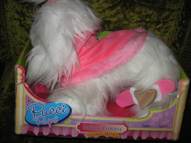 Pucci Pup Maltese Princess Soft Toy Dog Doll 2013 NIB