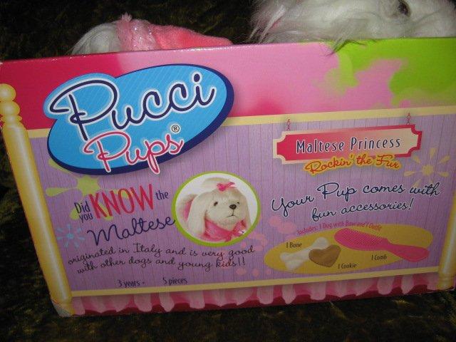Image 3 of Pucci Pup Maltese Princess Soft Toy Dog Doll 2013 NIB