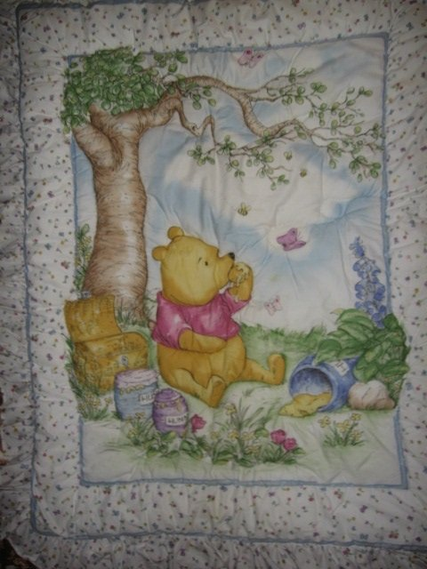 Pooh honey jar crib quilt out of print