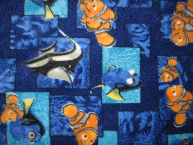 Nemo fish sea ocean fleece baby blanket 28 x28 inches