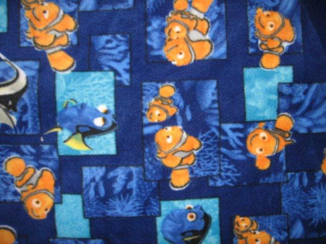 Image 1 of Nemo fish sea ocean fleece baby blanket 28 x28 inches