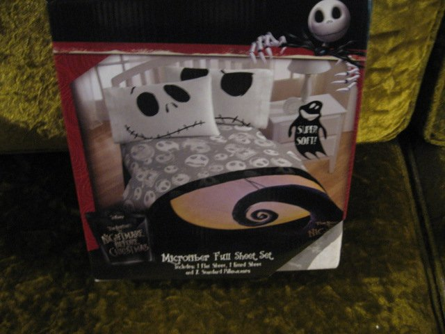 Tim Burton's nightmare before christmas full flat fitted sheet set