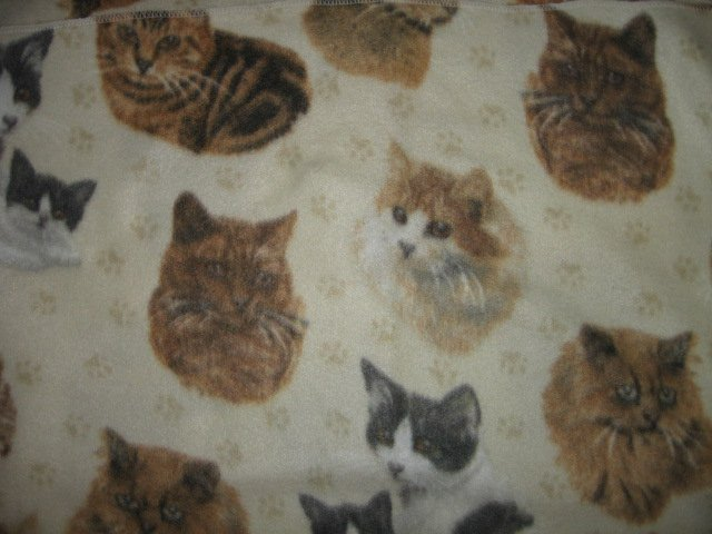 cat face baby blanket or for toddler day care