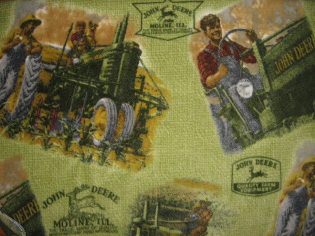 Image 0 of John Deere tractor fleece blanket  toddler day care car seat