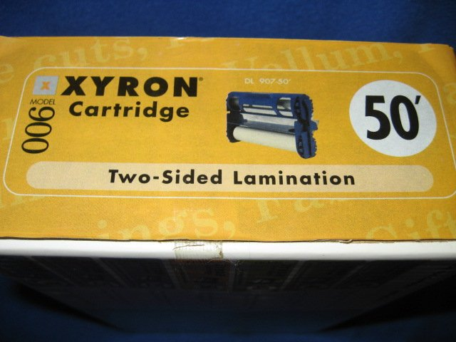 Image 1 of Xyron 900 cartridge two sided laminatation new