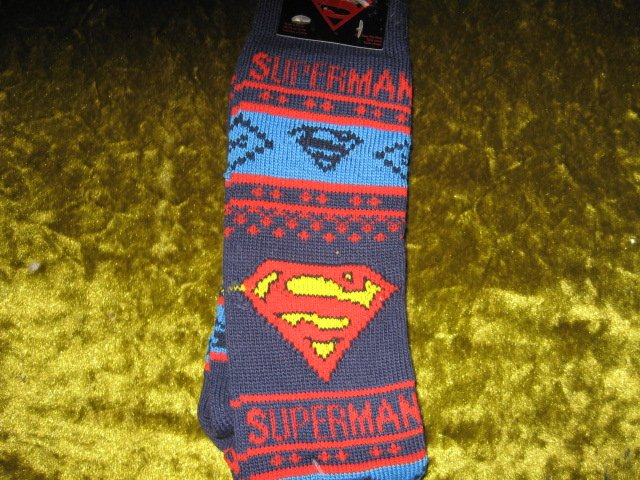 Superman Winter kneehigh socks spandex child size 10-13