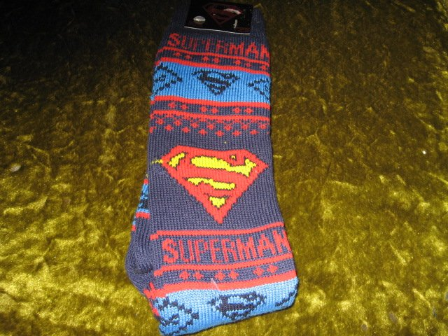 Image 1 of Superman Winter kneehigh socks spandex child size 10-13