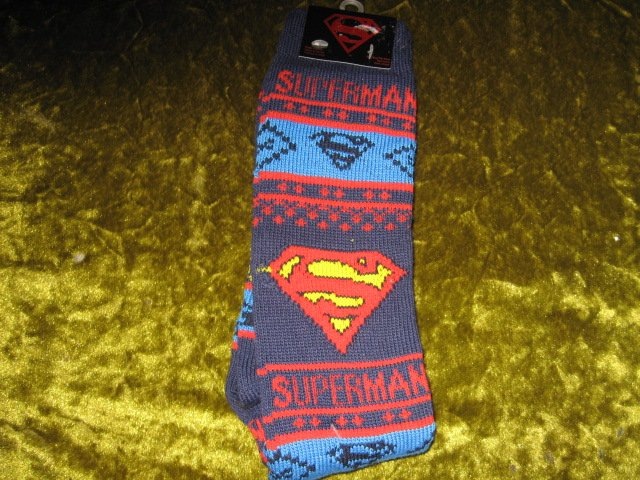 Image 2 of Superman Winter kneehigh socks spandex child size 10-13