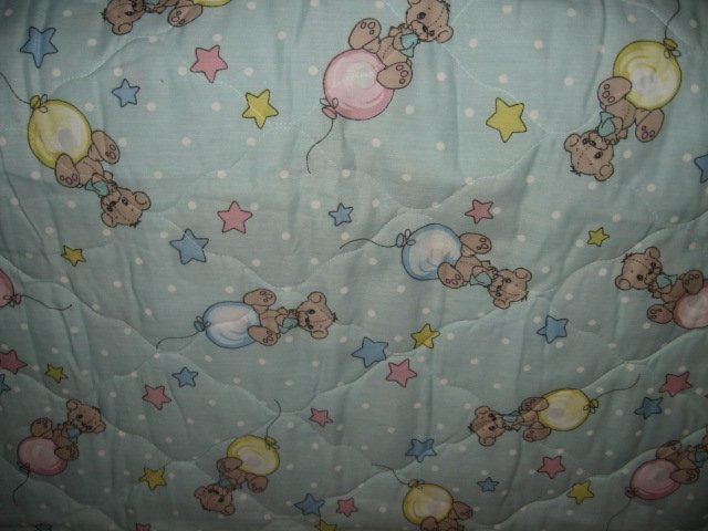 Image 2 of Boy Teddy Bear Precious Moments baby crib Quilt