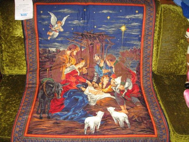 Image 0 of Nativity Jesus Quilt Mary Joseph Christmas Wal Mart Display item rare