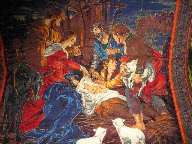 Image 1 of Nativity Jesus Quilt Mary Joseph Christmas Wal Mart Display item rare