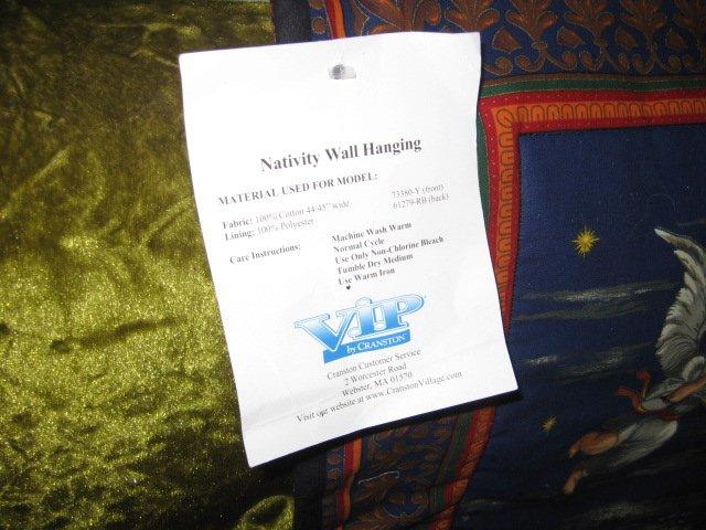 Image 2 of Nativity Jesus Quilt Mary Joseph Christmas Wal Mart Display item rare