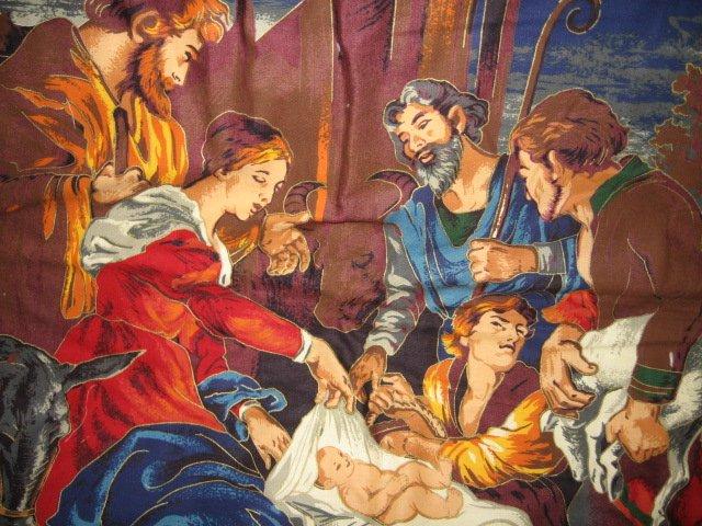 Image 4 of Nativity Jesus Quilt Mary Joseph Christmas Wal Mart Display item rare