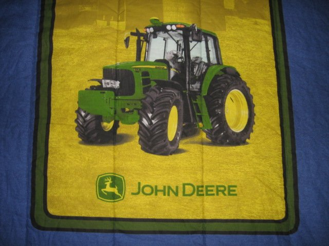 Image 2 of John Deere Tractor extra thick comforter 60 inches by 82 inches w/pillow case
