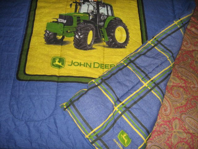 Image 3 of John Deere Tractor extra thick comforter 60 inches by 82 inches w/pillow case