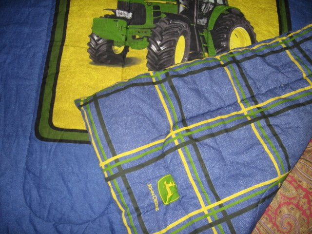 Image 4 of John Deere Tractor extra thick comforter 60 inches by 82 inches w/pillow case