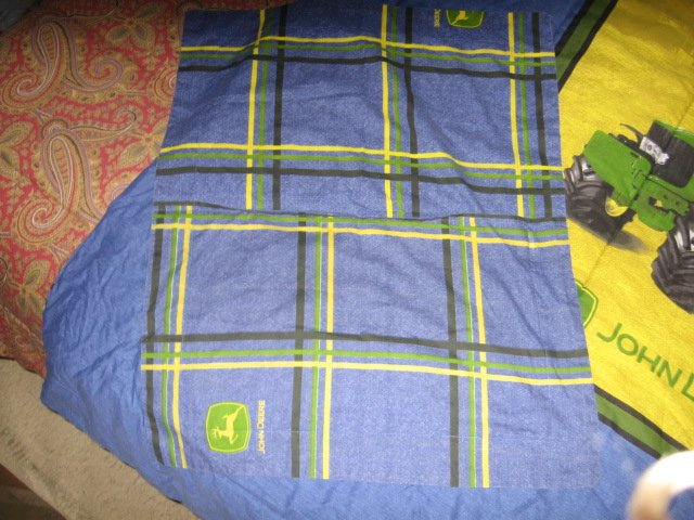Image 5 of John Deere Tractor extra thick comforter 60 inches by 82 inches w/pillow case