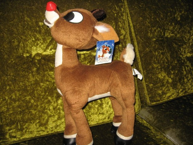 Rudolph the Red Nose Reindeer Doll with tag new vintage