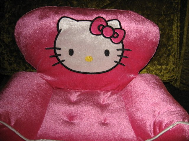 Image 1 of Hello Kitty  pouting toddler foam chair ages 3 and up