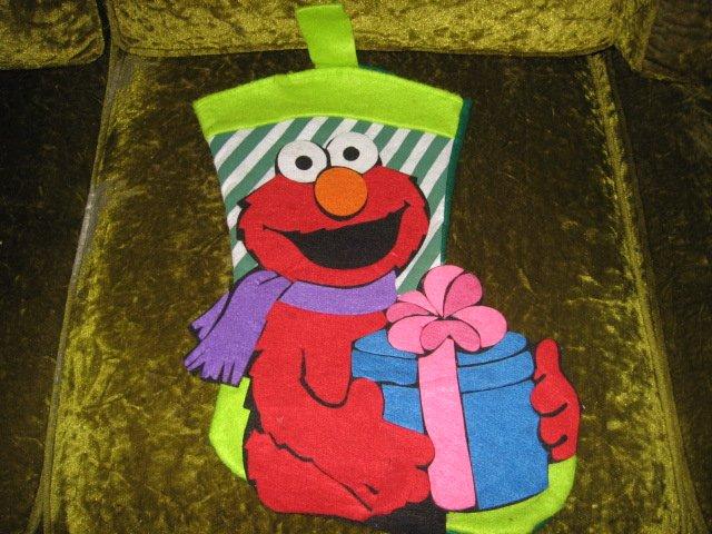 Image 0 of Elmo 18 inch felt Christmas stocking with hanger