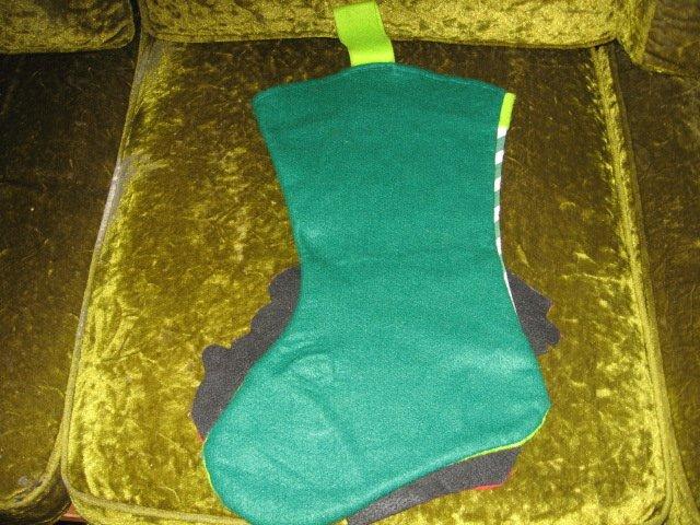 Image 1 of Elmo 18 inch felt Christmas stocking with hanger