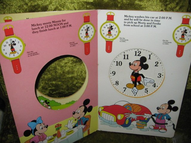 Image 4 of Mickey Mouse Disney Learn to use Clock Book Ages 3 and up