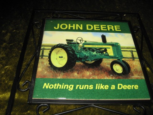 Image 1 of John Deere ceramic trivet