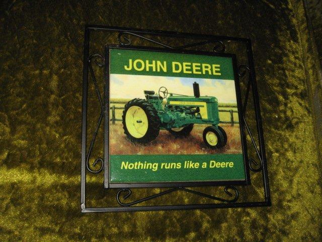 Image 2 of John Deere ceramic trivet