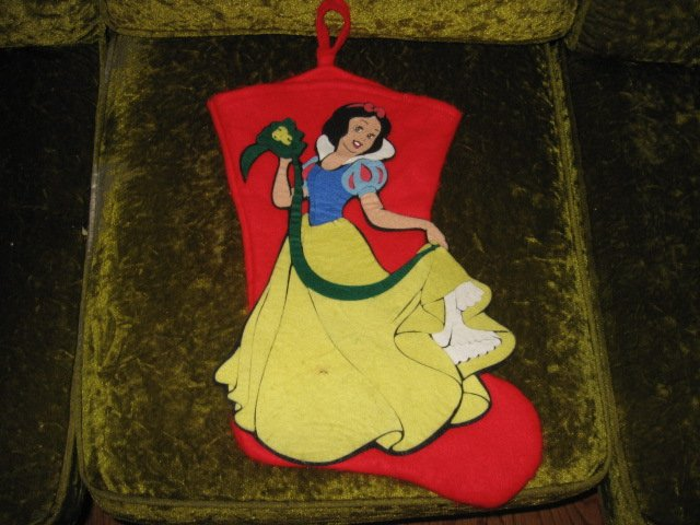 Image 0 of Disney Snow White  18 inch felt Christmas stocking